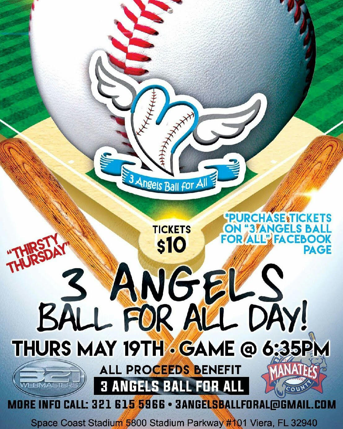 Brevard County Manatee\'s Baseball Game Fundraiser – 3 Angels Ball ...